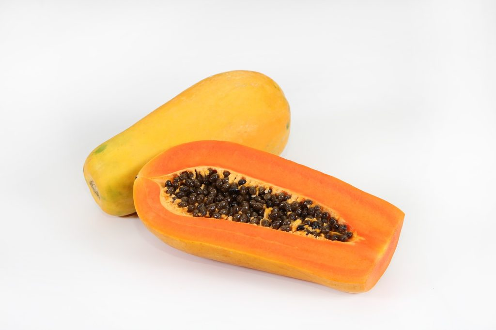 Papaya lemon tangerines help to lose weight