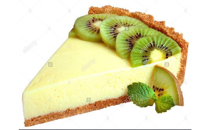 Puff Pastry, Cream, and Kiwi